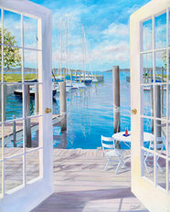 Dockside At The Marina Mural Wallpaper