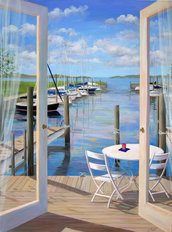 Dockside Mural Wallpaper