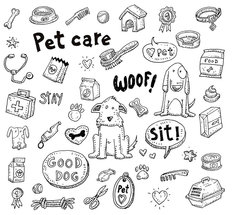 Doggy Doodle Set Wallpaper