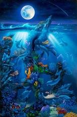 Dolphin Reef (Miller) Wall Mural