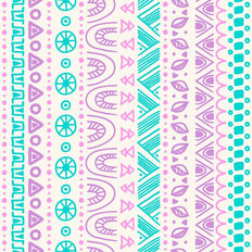 Doodle Tribal Pattern Wallpaper