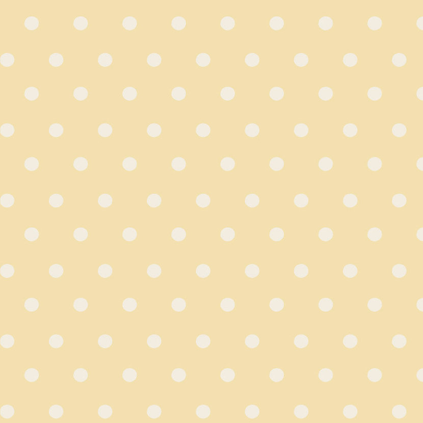 Dots - Butter & Cream Wallpaper
