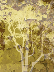 Double Urban Trees 1 Mural Wallpaper