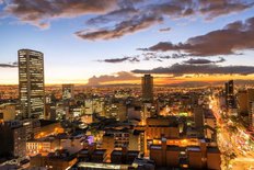 Downtown Bogota At Dusk Wallpaper Mural