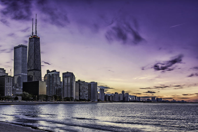 Chicago Waters Wall Mural