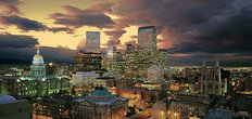 Downtown Denver Skyline Wall Mural