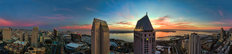 Downtown San Diego at Sunset Mural Wallpaper