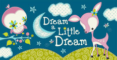 Dream a Little Dream - Dark Blue Wall Mural