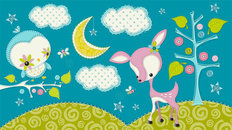 Dream a Little Dream - Light Blue Mural Wallpaper