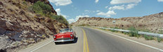 Driving Down Route 66 Wall Mural