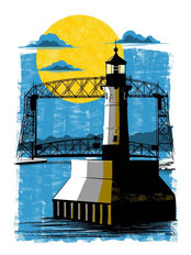 Duluth Light House Wall Mural