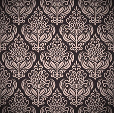 Dusty Pink Damask Wallpaper