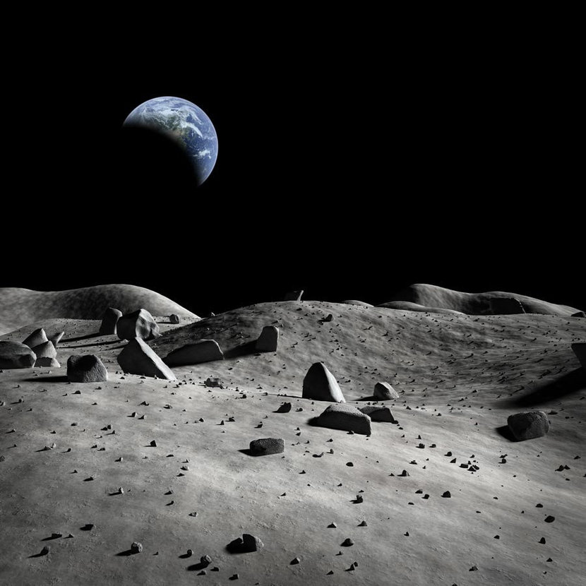 Earth Seen From The Moon Mural Wallpaper