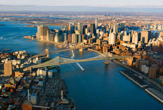 East River Blues Mural Wallpaper
