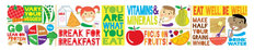 Eat Right - Panoramic Mural Wallpaper
