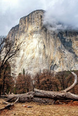 El Capitan Clouds Wallpaper Mural