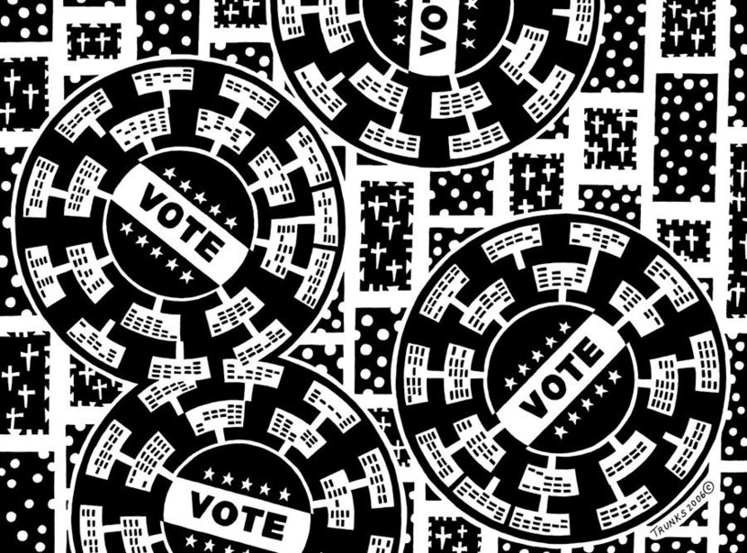 Election Day Mural Wallpaper