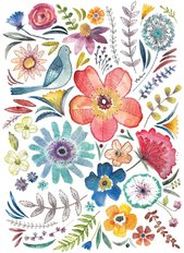 Embroidered Florals 1 Wall Mural