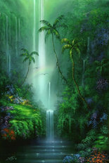 Emerald Falls Mural Wallpaper