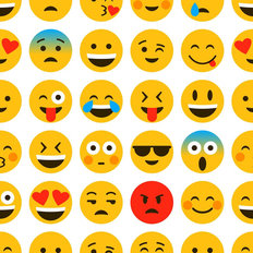 Emoji Pattern Wallpaper Mural