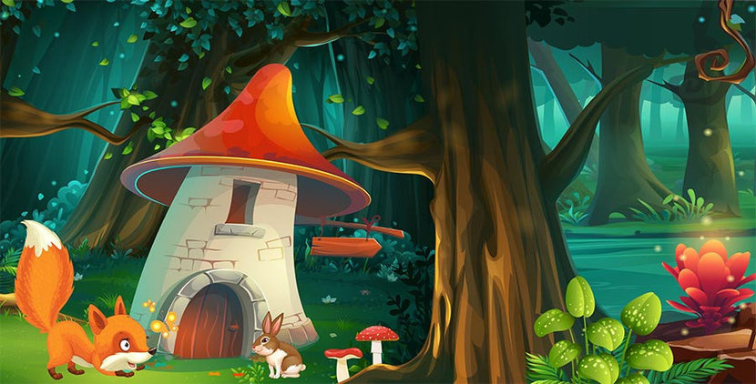 Enchanted Forest #1 Wall Mural