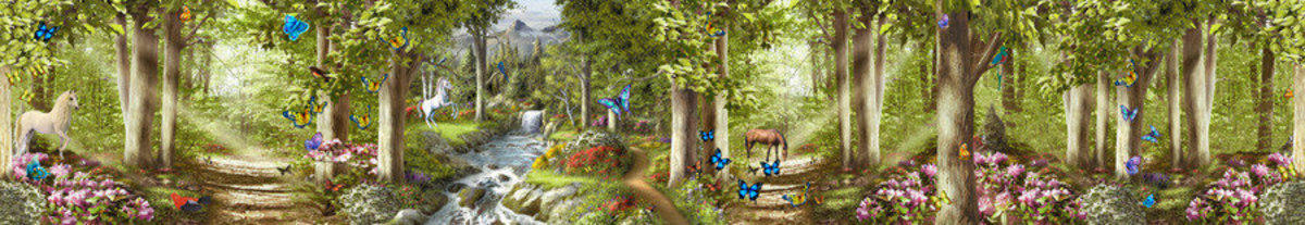 Enchanted Forest Of Life Wallpaper Mural