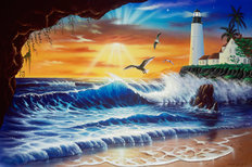 Enchanted Lighthouse Mural Wallpaper