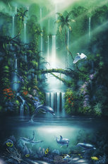 Enchanted Pool Wallpaper Mural