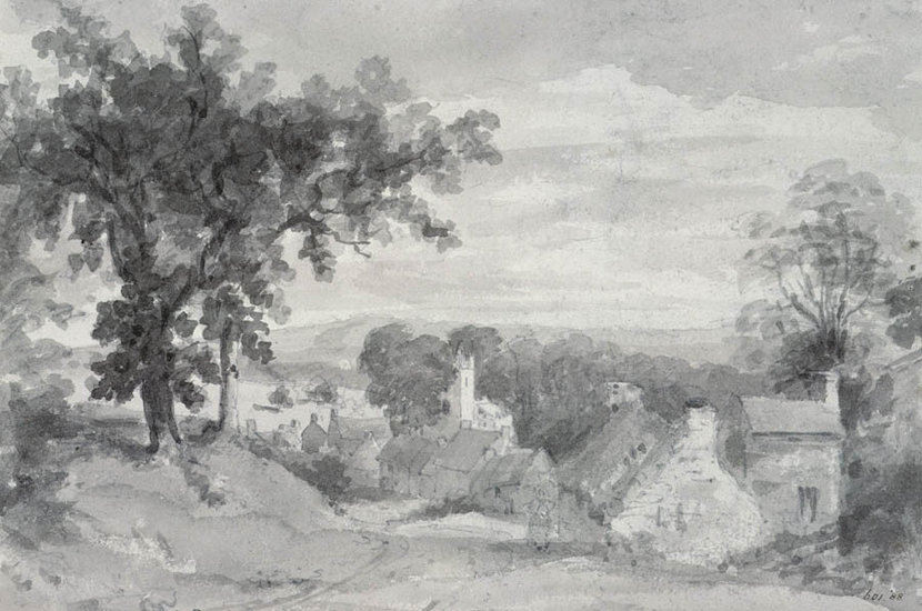 The Entrance To The Village Of Edensor Wallpaper Mural