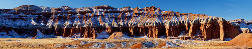 Eroded Sandstone Hills, Capitol Reef National Park Wall Mural
