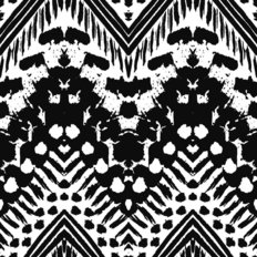 Ethnic Ink Pattern Wallpaper