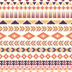 Pink And Purple Aztec Pattern Wallpaper
