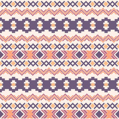 Horizontal Ethnic Aztec Wallpaper