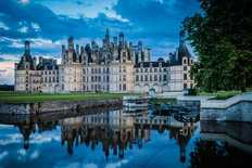 Evening At Chateau Chambord Wallpaper Mural