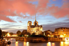 Evening At Notre Dame Wall Mural