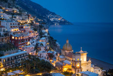 Evening Over Positano Mural Wallpaper
