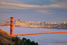Evening Over San Francisco Skyline Wall Mural