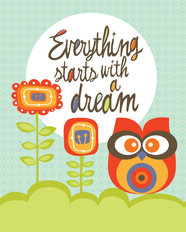 Everything Starts With A Dream Mural Wallpaper