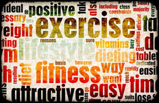 Exercise Wordcloud Mural Wallpaper