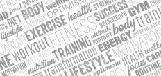 Exercise, Fitness, Training Word Cloud Wall Mural