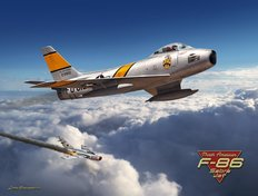 F-86 Sabre Jet Mural Wallpaper