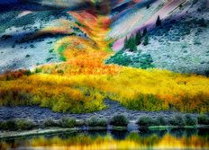 Fall Colors Cover Mountains Near North Lake Wall Mural