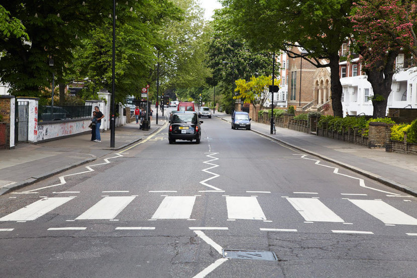 View of famous Abbey Road in London, England