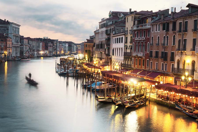 Grand Canale From Rialto Bridge Mural Wallpaper