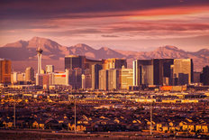Las Vegas Sunset Mural Wallpaper