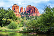 Famous View Of Cathedral Rock Mural Wallpaper