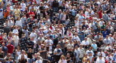 Fans During National Anthem Wall Mural