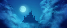 Fantasy Moonlight Castle Wall Mural