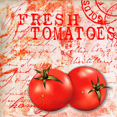 Farmers Market Fresh Tomatoes Mural Wallpaper
