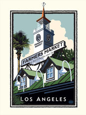 Farmers Market LA Wallpaper Mural